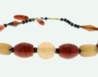 Senegalese necklace made out of glass paste