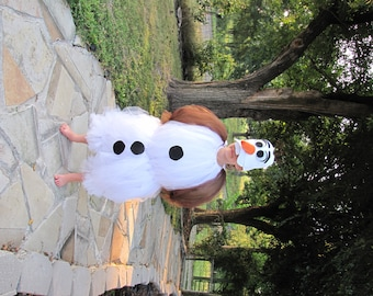 Sample Sale, 4-5T only, Halloween Costume, Olaf Costume, Olaf, snowman costume, olaf snowman costume, frozen costume