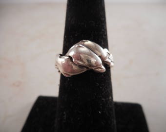 Vintage Sterling Silver Dolphin Ring Size 6