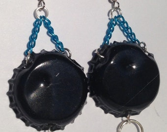 Upcycled bottlecap earrings