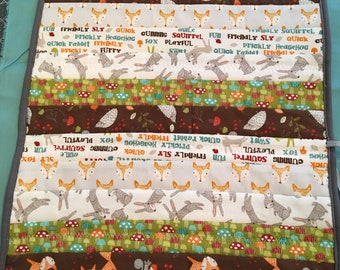 Fox and Rabbit diaper changing pad