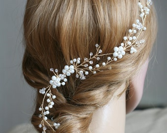 Pearl crown Bridal Pearl vine Wedding vine  Bridal crown Wedding hair crown Wedding crown Pearl Bridal headpiece Bridal hair accessories