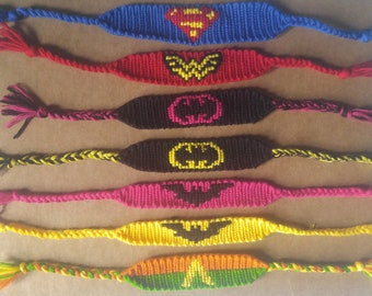 Justice Legue Superhero bracelets