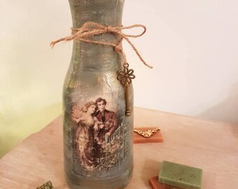 Shabby chic vintage decorative vase