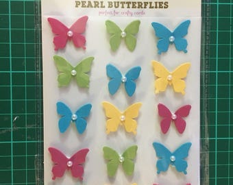 pack of butterfly embellishments new gift craft card making scrap booking