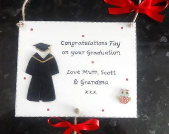 Personalised Graduation Gift Plaque