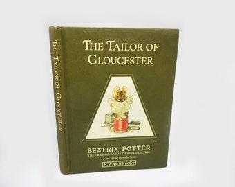 Vintage Beatrix Potter Tailor of Gloucester Little Book Olive Green Boards Frederick Warne Original Illustrations 1988 Printing Kids Books