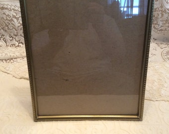 Vintage 11 x 14 Gold tone Metal Picture Frame / Ornate / Decorative/ Glass and Back Included / Great Condition