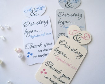 Bookmark wedding favor, thank you bookmarks, wedding favors, party favors  - 30 count