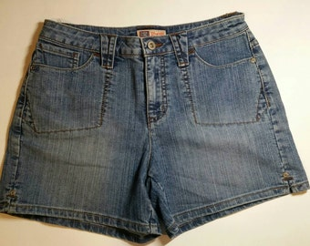 Faded Glory Mid-Rise Stretch Jean Shorts