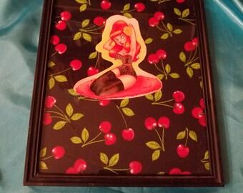 Pinup girl frames art