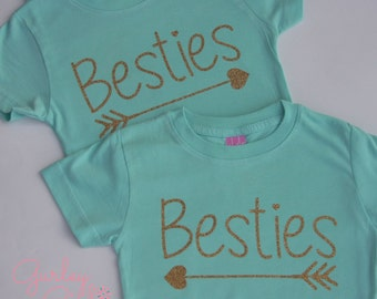 Best Friend Shirts, Best Friends, Bestie Shirt, Kids Best Friend Shirts -pair