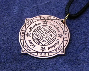 Seal Wheel of Fortune (AGLA) and protection of the archangels 4 (Michael, Uriel, Raphael, Gabriel)