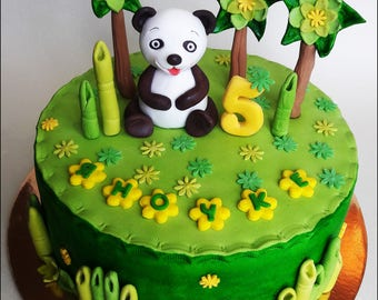 Panda edible cake topper Panda Baby Shower Birthday Cake Topper