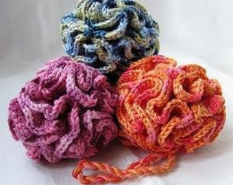 Crochet Bath Puff 100% Cotton Custom Colours