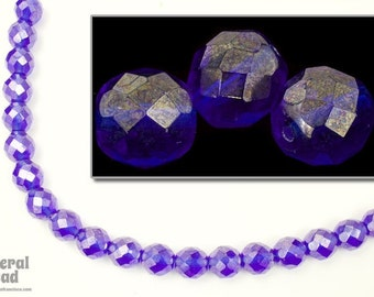 10mm Sapphire Luster Fire Polished Bead (25 Pcs)  #FPX218