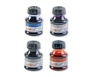 Rubber Endirsing Ink Koh-I-Noor Stamp pad refill black blue red violet green desk 50g new Hardtmuth New KIN