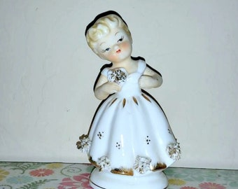 Flower Girl - Charming Bridal Vintage Figurine