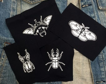 Insect Taxidermy Patches | Set of 4 patches | Punk Patches