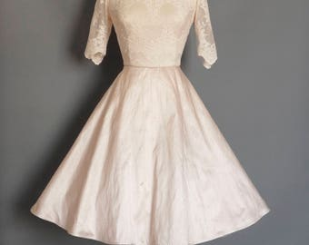 Blush Silk Dupion & Lace Sabrina Bodice Wedding Dress  - Made by Dig For Victory