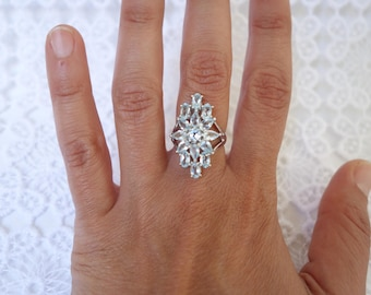 SUZAN ring in silver and Topaz T53