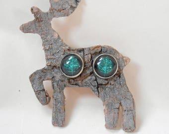 Tree of Life  Earrings Titanium Hypoallergenic Birch Bark Bird Deer Moose