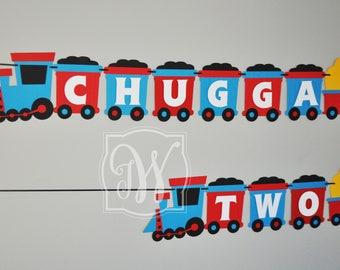 Train Banner - Choo choo Train Banner - Train Birthday Banner - Choo Choo Birthday Banner - Choo Choo banner