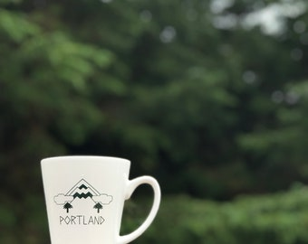 Mt Hood Portland Coffee Mug, coffee mug, tea, hot cocoa