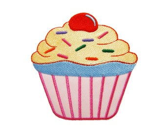 Cupcake Cake Embroidered Applique Iron on Patch