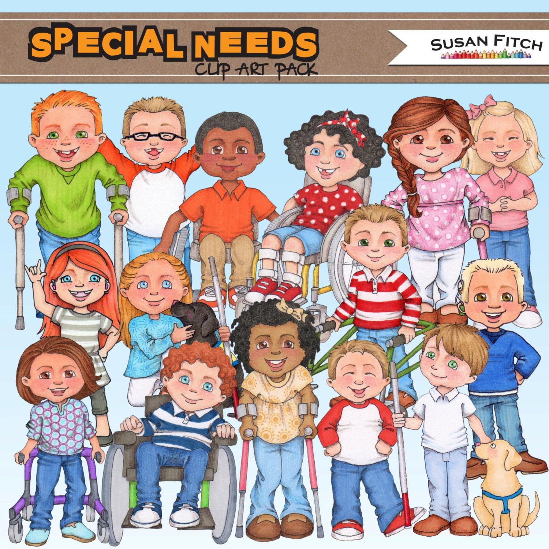 special needs digital clip art rh etsy com Speech Clip Art special needs assistant clipart