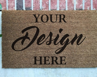 Personalized Door Mat // Design Your Hand-Painted Door Mat // Personalized Welcome Mat // You Design a Door Mat // Custom Welcome Mat