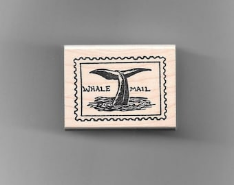 Whale Tail Mail Rubber Stamp