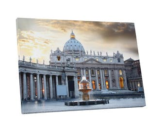 Castles and Cathedrals Basilica di San Pietro Vatican Rome Gallery Wrapped Canvas Print