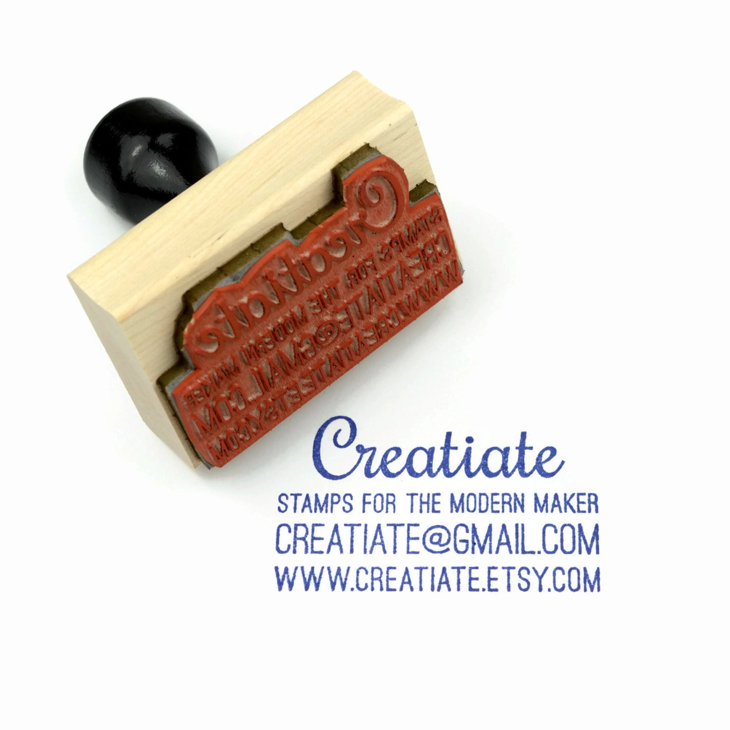 Custom Business Card Rubber Stamp | Customized Small Business | Wood ...