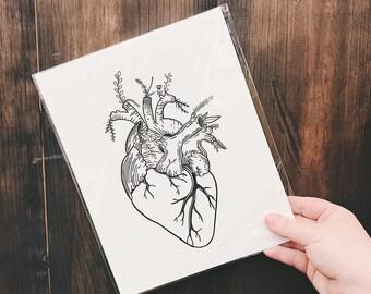 Print: Botanical Heart