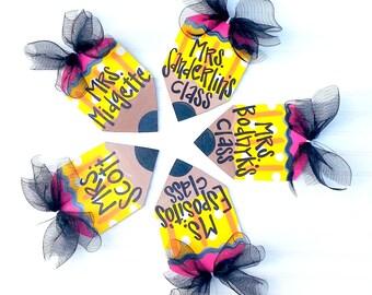 Teacher Appreciation Gift | Personalized Teacher Gift | Classroom Decor | Classroom Decor | Pencil Door Hanger | Classroom Sign