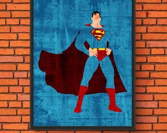 Minimalism Art - Superman Print