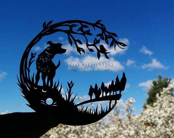 Top of the Hill - DIY Papercut Template