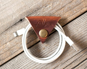 "Leather Cord Keeper // ""the cordita"" by fullgive in english tan"