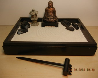 SBP1-Small Zen Garden with Sienna Buddha and Pagoda-DIY Kit