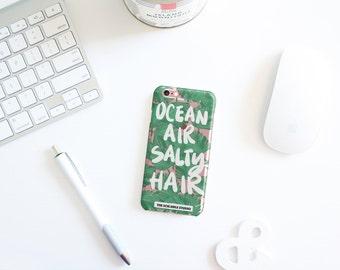 Ocean Air And Salty Hair Palm Tree Leaf Beachy Design Iphone Case