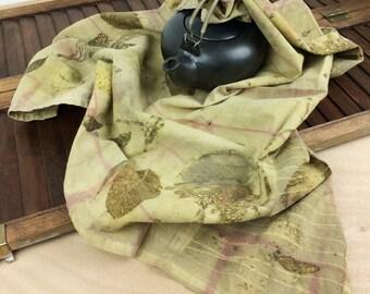Housewarming Gift - Sustainable Home - Eco Dyed - Flour Sack Towel - Natural Kitchen - Hand Towel - Eco Print - Vegan Gift - Botanical Print
