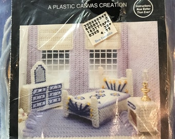 Needlecraft Ala Mode Master Bedroom Set for My Dream Dollhouse - Plastic Canvas Creation