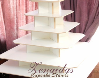Cupcake Stand XX Large 275 Cupcakes White Melamine Wood Cupcake Tower Stand Wedding Stand Project