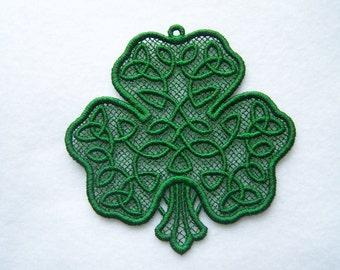 Lace Shamrocks--Celtic Shamrocks--St. Patrick's Day