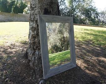wall mirror/ wood mirror/ rustic mirror/ vanity mirror
