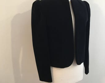 Vintage BLACK VELVET JACKET / size Small