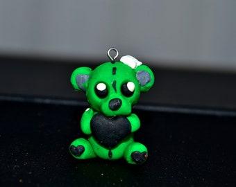Creepy Cute Zombie Teddy Charm