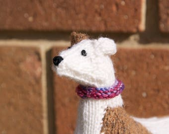 Hand Knitted Greyhound Whippet.