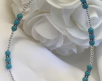 TURQUOISE Bali Bracelet/Ankle Bracelet (2609) + Plus Sizes